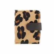Tarjetero piel leopardo