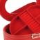 Joyero forma ovalada con pespuntes al tono 54809