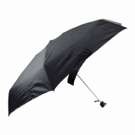 Paraguas caballero negro plano y manual