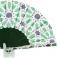 Abanico verde batik estampado multicolor 106972