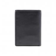 Billetero negro piel lisa seis tarjetas