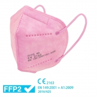 25 mascarillas FFP2 rosas - Homologadas CE