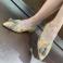 Zapatos camel punta fina piel ante y multicolor 117555