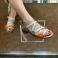 Sandalias piel grabada cocodrilo hielo Plumers 117435