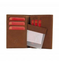 Billetero 6 tarjetas rayas grabadas