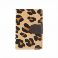 Monedero, billetero y tarjetero piel leopardo