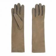 Guantes semi largos de piel metalizada