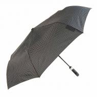 Paraguas puño abre-cierra negro con puntos