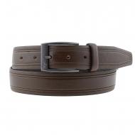 Cinturón piel lisa y grabada en laterales